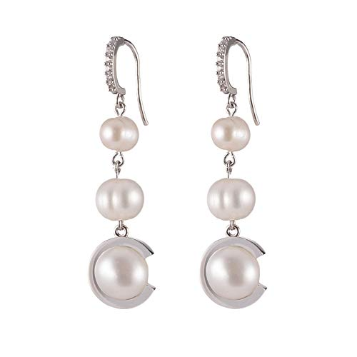 Carolee Women's Fresh Water Pearl Triple Drop C Earring