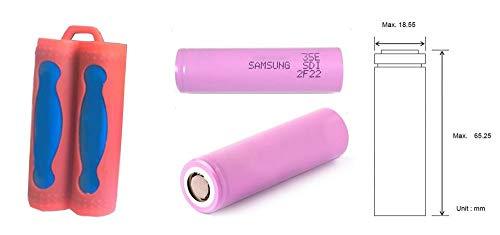 geo-versand 2 x Samsung 3450 mAh – E Zigarette Akku + 1 x Aufbewahrung Silikon Hülle Set Box