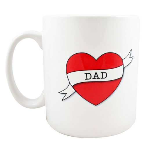 Dad taza de desayuno con lazo tatuaje estilo caja de: Amazon.es: Hogar