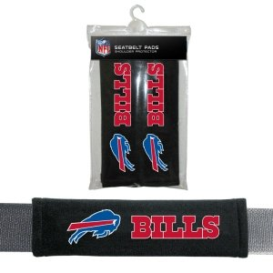 Buffalo Bills NFL Car Accessory - Velour Seat Belt (Buffalo Bills Football Car Flag)