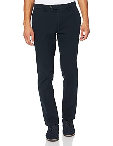 Tommy Hilfiger Uomo DENTON CHINO HONEYCOMB FLEX Pantaloni, Blu (Sky Captain403), W33/L32