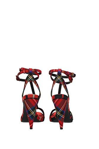 con scozzese Heel in lana rosso tacco 1zqtExwq6