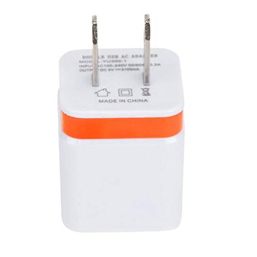 - GLVSZ Home Travel Dual Port AC USB Wall Charger for iPhone for Samsung Galaxy S7