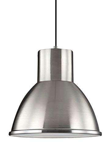 (Sea Gull Lighting 6517401-962 Division Street One-Light Pendant Hanging Modern Light Fixture, Brushed Nickel Finish)