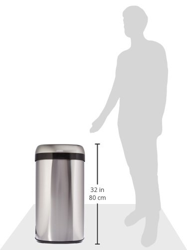 iTouchless 16 Gallon Dual-Deodorizer Oval Open Top Trash Can, Commercial Grade Stainless Steel, 60 Liter Open Garbage Can by iTouchless (Image #8)