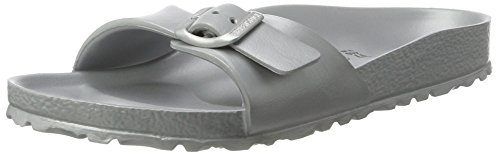 Birkenstock Womens Madrid EVA Silver Narrow Fit Mule Sandals Size 5