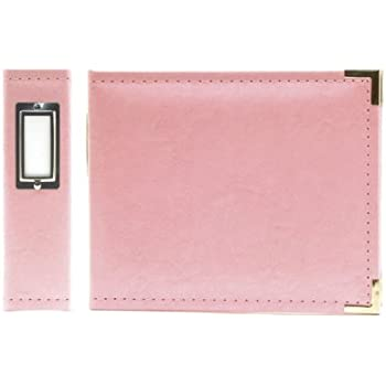 We R Memory Keepers Classic Leather - 6x6 inch Ring Album, Pretty Pink