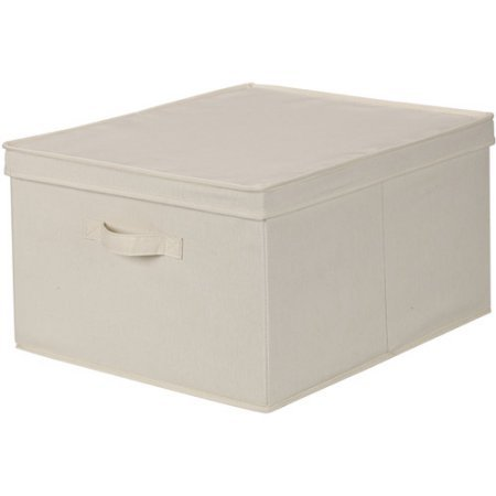 Household Essentials Jumbo Canvas Storage Box with Lid