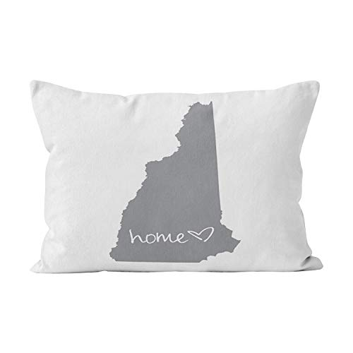 Wesbin Home New Hampshire Unique Hidden Zipper Home Decorative Rectangle Throw Pillow Cover Cushion Case Inch 20x36 King One Side Design Printed Pillowcase