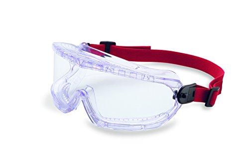 UVEX by Honeywell 11250800 V-Maxx Safety Goggle Direct Vent, Elastic Headband, Clear Lens with Fog-Ban Anti-Fog Coating