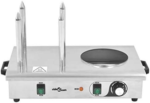 vidaXL Appareil Hot-dog 4 Tiges Acier Inoxydable 550 W Cuisine Cuisson Machine