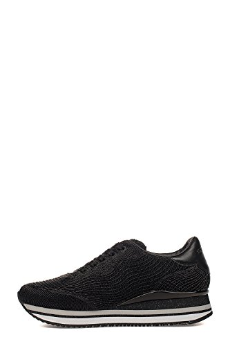 Sneakers London Black Polyamide 25443KS120 Crime Women's UtdwX6q