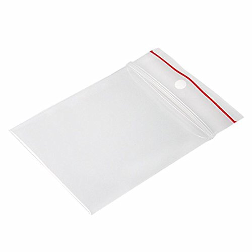 (Minigrip Red Line MGRL4PH02503 Polyethylene (LDPE/LLDPE Blend) Clear Reclosable Bag, Hang Hole, 3