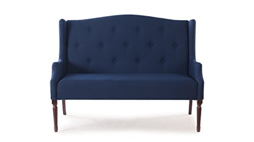 Jennifer Taylor Home 61010-878 Izzy Settee, Midnight Blue