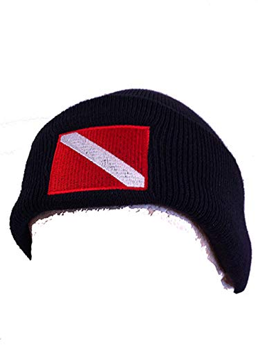 (Trident Knit Beanie with Embroidered Diver Down Flag)