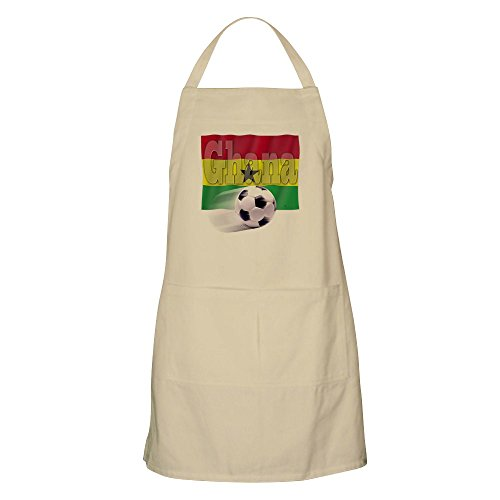 CafePress - Soccer Flag Ghana BBQ Apron - Kitchen Apron with Pockets, Grilling Apron, Baking Apron by CafePress