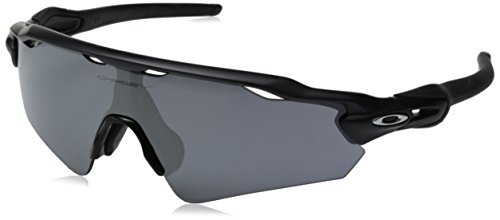Oakley Men's Radar Ev Asian Non-Polarized Iridium Shield, Matte Black, 135 mm ()