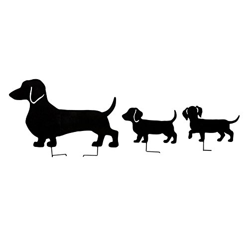 Dachshund Family Garden Stakes - Set of 3