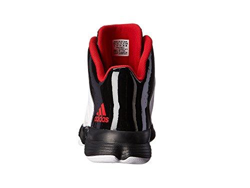 New Adidas Men's Cross 'Em 3 Basketball Shoes White/Scarlet 9