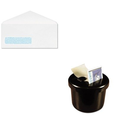 KITLEE40100QUACO171 - Value Kit - Columbian Poly-Klear Business Window Envelopes (QUACO171) and Lee Ultimate Stamp Dispenser (LEE40100)