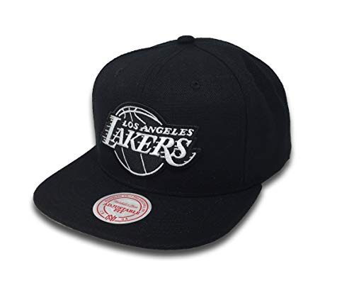 24f25ccb42e Mitchell   Ness Wool B W Snapback LA Lakers MM18155 Black