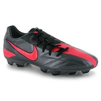 Nike Men's T90 Shoot IV FG Soccer Cleats-Carbon Gray/Black/Pink-