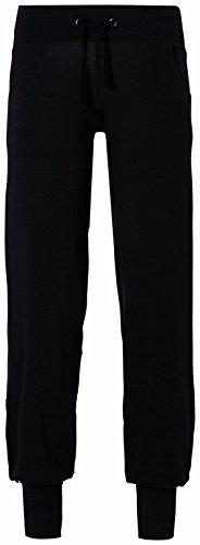 erima Damen lange Yogapants Feel Green, Schwarz, 40, 210446