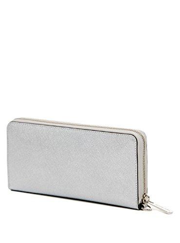 5d0b1d1731e8 Michael Kors Jet Set Travel Silver Flat Tech Continental Wallet ...