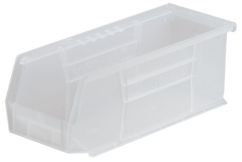 Akro-Mils 30224 Plastic Storage Stacking AkroBin, 11-Inch by 4-Inch by 4-Inch, Clear, Case of ()