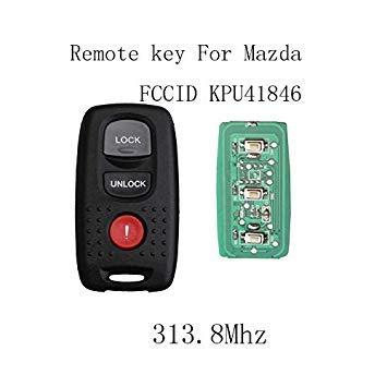 FIESTA QWMEND 3Buttons Keyless Entry Remote Key DIY for Mazda 3 6 KPU41846 for Mazda 3 6 2004 2005 2006 2007 2008 Remote Keys