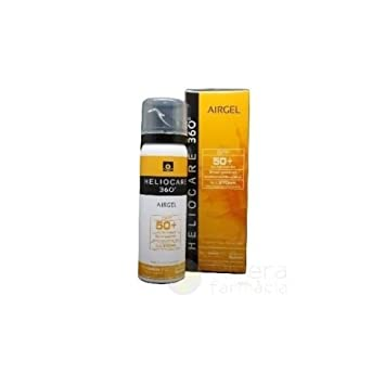 Amazon.com: Pack 2x NEW Heliocare 360 Airgel Spf50+ 60ml Total 120ml ...