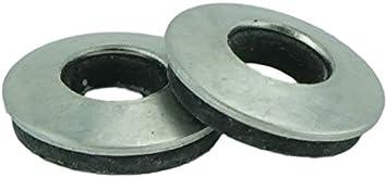 TUOREN 100pcs #8 Stainless Neoprene Backed EPDM Bonded Sealing Washers