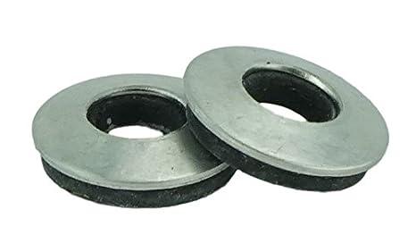 TUOREN 50pcs 1//4 x 5//8 Stainless Neoprene Backed EPDM Bonded Sealing Washers