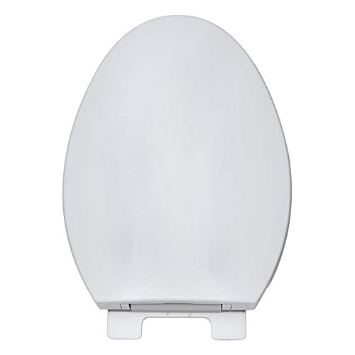 V Toilet Seats, Toilet Lid Soft Close Toilet Seat with Adjustable Hinge Cover with Fittings for Family Bathroom White (color   V)