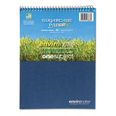 * Environotes Sugarcane Notebook, 8 1/2 x 11 1/2, Flipper, 80 Sheets, College Rule