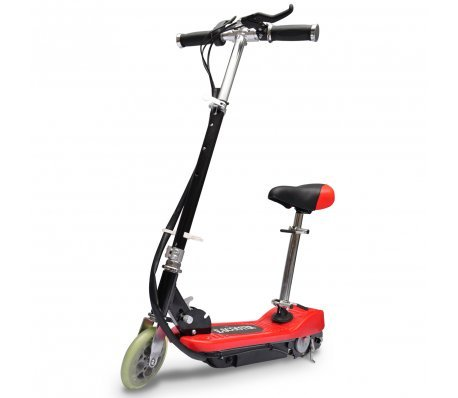 Patinete eléctrico 120 w, color rojo y negro, diseño de ...