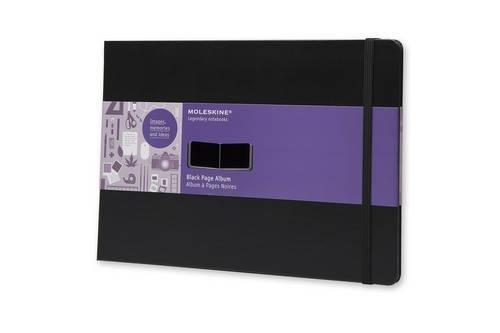 Moleskine Art Plus Black Page Album, A4, Black, Hard Cover (8.5 x 12)