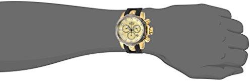 Invicta Men s Venom Titanium Quartz Watch with Silicone Strap, Two Tone, 26 Model 24258