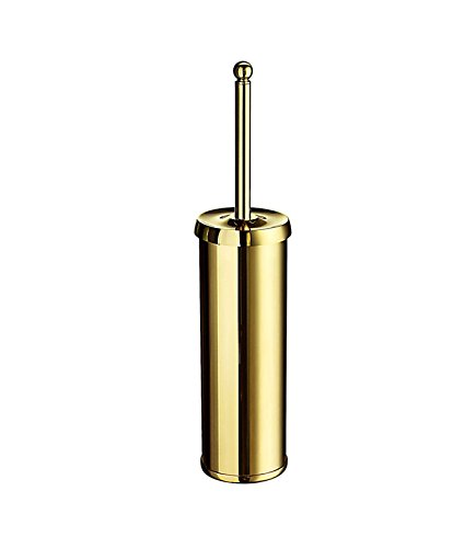 Smedbo SME_V233 Free Standing Toilet Brush, Polished Brass by Smedbo