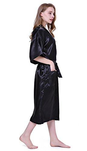 Nero puro donna Robe di da colore HonourSport Kimono 0wgqAA