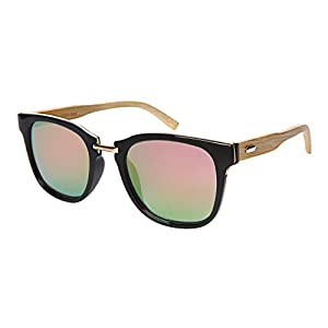 bd7ea99ee49 Edge I-Wear Square Wooden Bamboo Women Sunglasses Flat Lens by 53091BM-FLREV