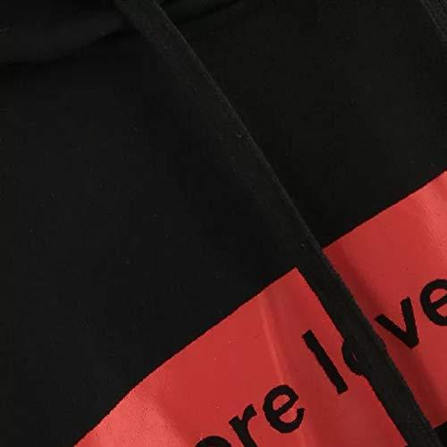 Black Morwind Sleeve Blouse Pullover Tops Hoodie Sweatshirt Womens Long Letters qBrnBUz
