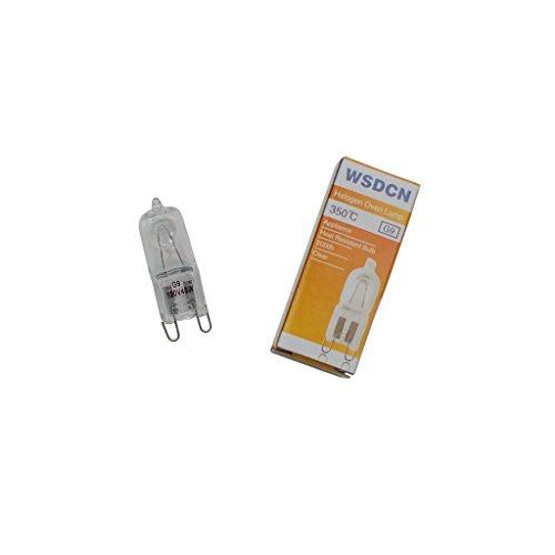 WSDCN G9 120V 120 Volt 40W Halogen Oven Lamp 350'C Oven Light Bulb Heat Resistant 2000h+ - Watt 40 Bulb Max