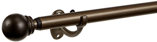 Umbra Bayview Adjustable Drapery Rod System for Bay Windows, Bronze