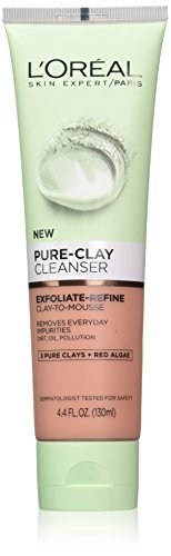L'Oreal Paris Skin Care Pure Clay Cleanser, Exfoliate & Refi