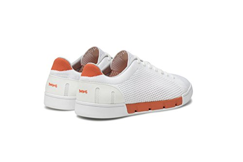 Knit SWIMS Tennis Breeze Pool Men's White Orange Summer Sneakers for and qqFaHt