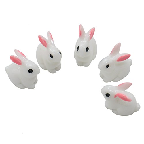 Buorsa 36 Pieces Rabbit Slime Charms Beads Cute Rabbit Charms Resin Ornaments Accessories For Arts Crafts Ornament -