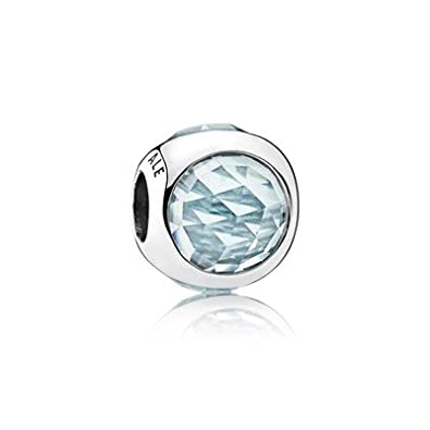 9976bc880f04 Pandora 792095 NAB Charm Silver Glass Blue Water  Amazon.co.uk  Jewellery