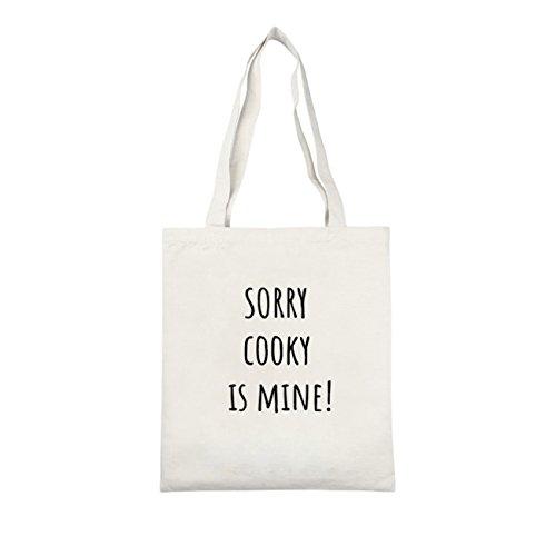 ZIGJOY KPOP BTS Bangtan Niños Impreso Canvas Tote Bag Shoulder Bag Canvas Messenger Bag Cooky-blanco
