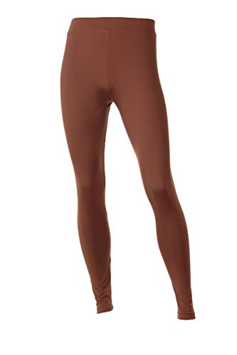 9a82395b3eebe Neovic Mens Athleisure Ultra Soft Knit Yoga Pants Base Layer Casual Solid  Leggings - Red Brown